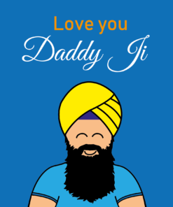 sikh greeting cards, sikh fathers day card, fathers day sikh cards, asian fathers day cards