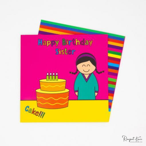 Sikh colouring books, Sikh greeting cards, happy birthday paaji, sister greeting cards