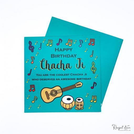chacha punjabi greeting card