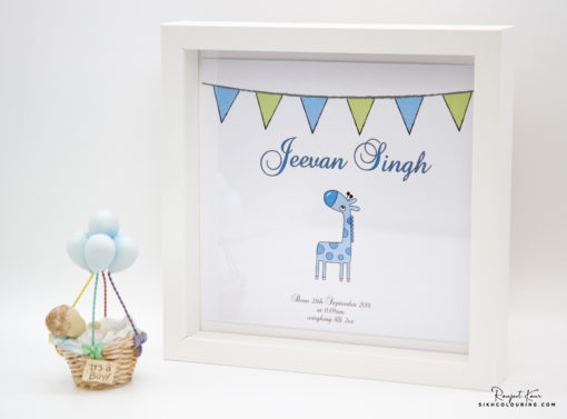 Personalised punjabi Baby Name Frames