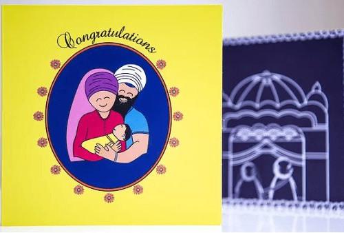 sikh newborn card